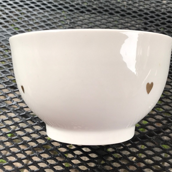 West Elm Gold Heart bowl Valentine With Love